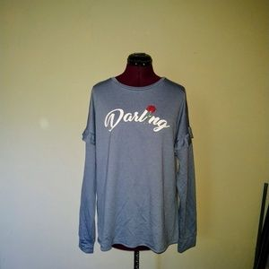 Rebellious One Top Knit Graphic Darling NWOT